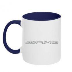 Кружка двухцветная Mercedes-AMG (металлик) - FatLine