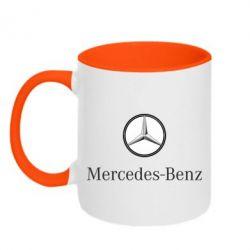 Кружка двухцветная Mercedes-Benz Logo - FatLine
