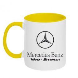 Кружка двухцветная Mercedes Benz - FatLine
