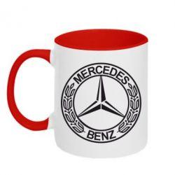 Кружка двухцветная Mercedes Logo - FatLine