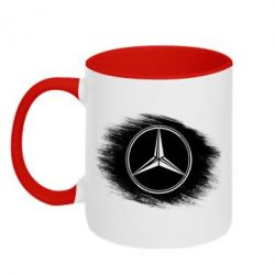 Кружка двухцветная Мерседес арт, Mercedes art