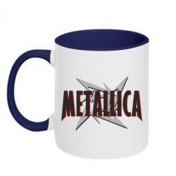 Кружка двухцветная Metallica Logo - FatLine