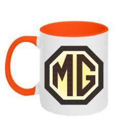Кружка двухцветная MG Cars Logo - FatLine