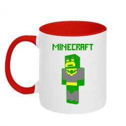 Кружка двухцветная Minecraft Batman - FatLine