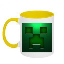 Кружка двухцветная Minecraft Face - FatLine