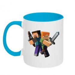 Кружка двухцветная Minecraft Fan Art
