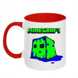Кружка двухцветная Minecraft Head - FatLine