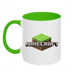 Кружка двухцветная Minecraft Land - FatLine