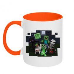 Кружка двухцветная Minecraft Party - FatLine