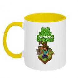 Кружка двухцветная Minecraft Steve - FatLine