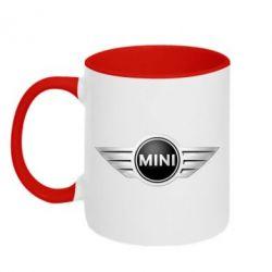 Кружка двухцветная Mini Cooper - FatLine