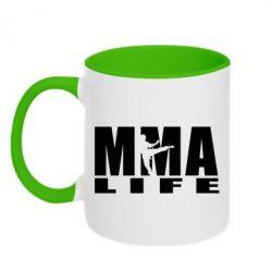 Кружка двухцветная MMA Life - FatLine