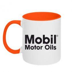 Кружка двухцветная Mobil Motor Oils - FatLine