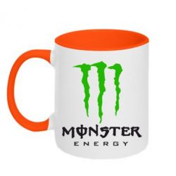Кружка двухцветная Monster Energy Classic - FatLine