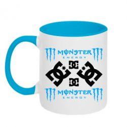 Кружка двухцветная Monster Energy DC Logo - FatLine