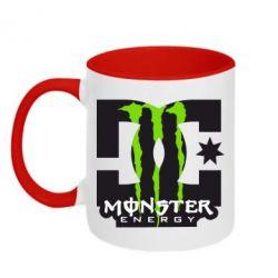 Кружка двухцветная Monster Energy DC - FatLine