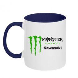 Кружка двухцветная Monster Energy Kawasaki - FatLine