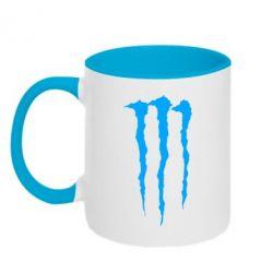 Кружка двухцветная Monster Energy Stripes 2 - FatLine