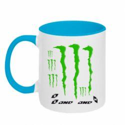 Кружка двухцветная Monster One - FatLine
