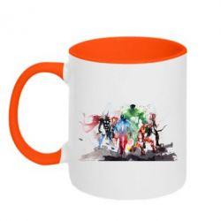 Кружка двухцветная Мстители Арт - FatLine