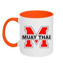 Кружка двухцветная Muay Thai Big M - FatLine