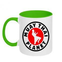 Кружка двухцветная Muay Thai Planet - FatLine