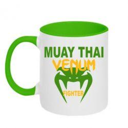 Кружка двухцветная Muay Thai Venum Fighter