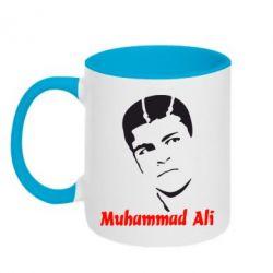 Кружка двухцветная Muhammad Ali - FatLine