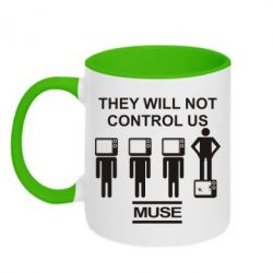 Кружка двухцветная MUSE They will not control us - FatLine