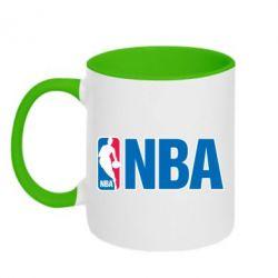 Кружка двухцветная NBA Logo