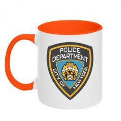 Кружка двухцветная New York Police Department - FatLine