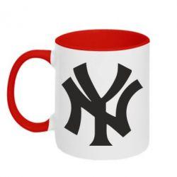 Кружка двухцветная New York yankees - FatLine