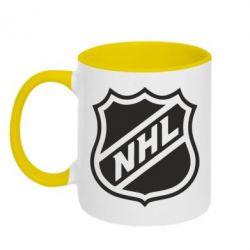 Кружка двухцветная NHL - FatLine