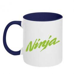 Кружка двухцветная Ninja - FatLine