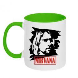 Кружка двухцветная Nirvana Kurt Cobian - FatLine