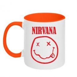 Кружка двокольорова Nirvana (Нірвана) - FatLine