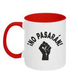 Кружка двухцветная No Pasaran - FatLine