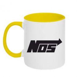 Кружка двухцветная Nos - FatLine