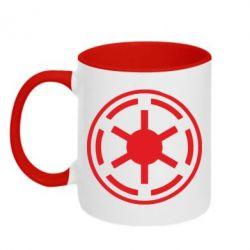 Кружка двухцветная Новый герб Империи - FatLine