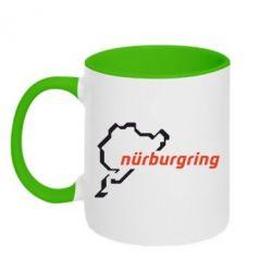 Кружка двухцветная Nurburgring - FatLine