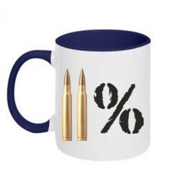 Кружка двухцветная Одинадцать процентов - FatLine