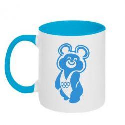 Кружка двухцветная Олимпийский Мишка - FatLine
