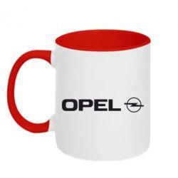 Кружка двухцветная Opel Logo - FatLine