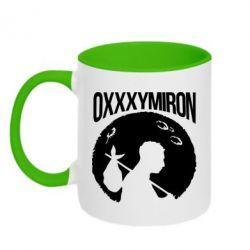 Кружка двухцветная Oxxxymiron Долгий путь домой - FatLine