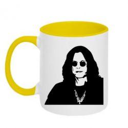 Кружка двухцветная Ozzy Osbourne face - FatLine