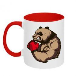 Кружка двухцветная Panda Boxing - FatLine