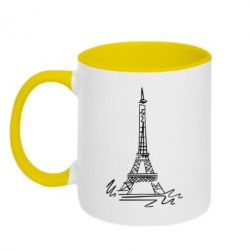 Кружка двухцветная Paris - FatLine