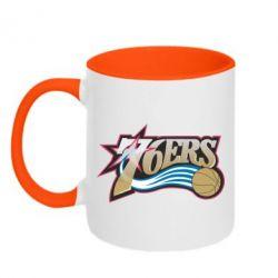 Кружка двухцветная Philadelpia 76ers - FatLine