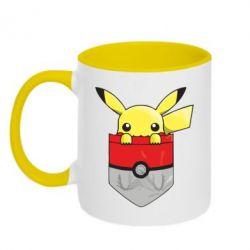 Кружка двухцветная Pikachu in pocket - FatLine