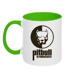Кружка двухцветная Pitbull Syndicate - FatLine